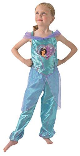 Fancy Ole - Mädchen Girl Karneval Kostüm Love Hearts Jasmine, Hellblau, Größe 98-104, 3-4 Jahre