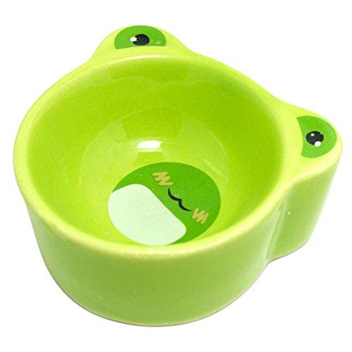 Cuenco de cerámica verde para erizo