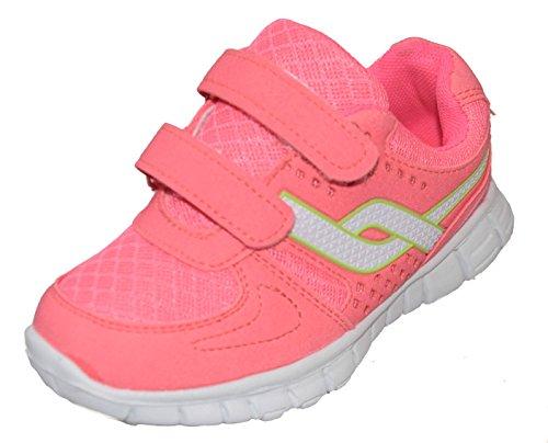 BTS 1863 chaussures pour fille avec semelle :  rose blanche taille 19–36 Multicolore - Rose