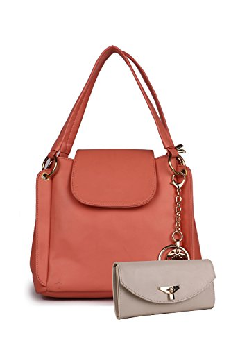Classic Fashion Women's Hand Held Bag With Sling Bag (Pink ,Cfs0117)