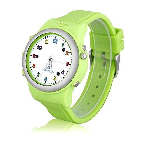 Top Watch TW061 - Smartwatch Pulsera de Reloj Infantil con GPS LBS Localizador para Seguridad de Niños SOS Llamada Sim Android Ios, Verde