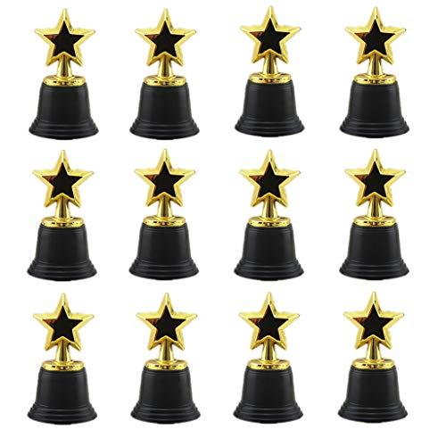 XXguang-12Pcs Star Gold Award Trophäen, 4,5