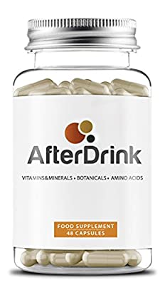 AfterDrink : alcohol-related health supplement and hangover support - vitamins & minerals +amino acids +herbal extract blend - 1 bottle = 8 nights out - manufactured in the UK by FORZA