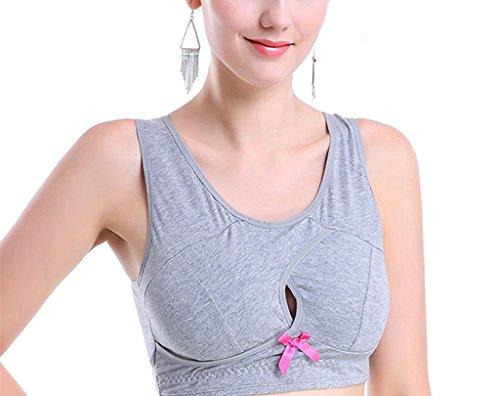 vlunt Liberté sans Yoga Soutien-gorge de sport sans coutures pour femme - A