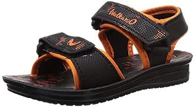 WalkaroO by VKC Boy's Black Outdoor Sandals-8 UK (26 EU) (9.5 Kids US) (2000723608BLK)
