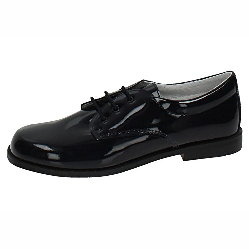 PUERTORREY 4143 Zapatos Piel Charol NIÑO Zapato COMUNIÓN Azul Marino 35