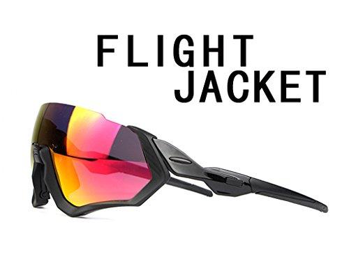 Polarizzati Occhiali da Sole Sportivi, Anti-UV 400 Protezione Ciclismo Occhiali da Sole con 3 Lenti Intercambiabili,Uomo E Donna Antivento Aviatore Specchio per MTB,Bici,Moto,Trekking Casual,A