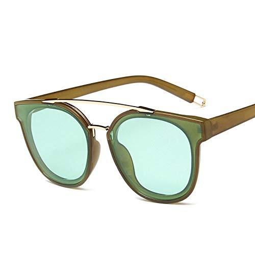 WET0VSD Damen Sonnenbrillen Vintage Retro Brillen Herren Sonnenbrillen Klar Gläser Double Beam Uv400