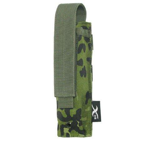 BE-X Tasche für Stabtaschenlampen -Torch- mit Velcro für MOLLE - dänisch tarn
