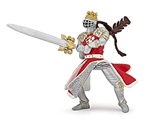 Papo- Dragon King with Sword Figura, Multicolor (39797)