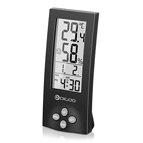 Digoo DG-TH1177 Wireless Digital transparenter Schirm Innen Hygrometer-Thermometer-Sensor-Timer Wecker,Raumklimakontrolle Raumluftüerwachtung Messinstrumente