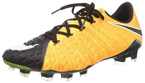 Nike Hypervenom Phantom III FG, Chaussures de Football Homme Orange (Laser Orange/white-black-volt-white)