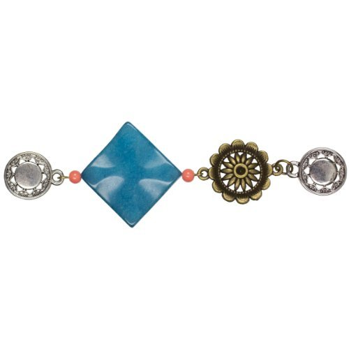 Cousin MTCSHC-04238 Make The Connection Short Connector with Turquoise Diamond Gemstone by Cousin