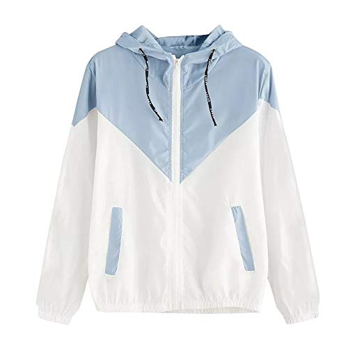 Damen Beiläufig Lange Ärmel Patchwork Übergroß Reißverschluss Jacke Mantel Windjacke Mantel Frühling Herbst Stilvoll Bequem Outwear Kurz Mantel -