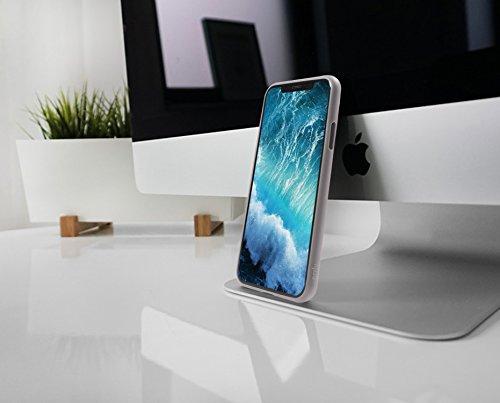 iPhone X Hülle Pink, Orzly Slim Case für das Apple iPhone X / iPhone 10 (2017 Modell) - Super dünne Slim Case (0.35mm Handyhülle) in ROSA SCHWARZ Orzly Slim Case für iPhone X