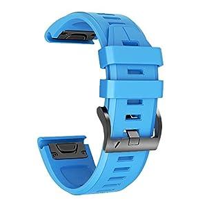 NotoCity Kompatibel mit Armband Fenix   3 26mm Silikonband Easy Fit für Fenix   5X / Fenix   5X Plus/Fenix   3 / Fenix   3 HR