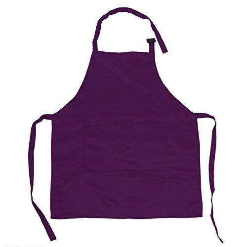 �rzen mit Taschen Küchenschürze Grillschürze Modische Apron für Küche Community Aktivität Party Handwerk Kunst Malerei Violett One Size (Handwerk Aktivitäten Für Kinder)