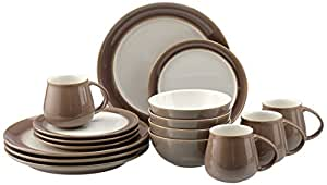 denby truffle coast geschirr set aus steingut braun k che haushalt. Black Bedroom Furniture Sets. Home Design Ideas