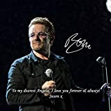Bono - U2 2 Personalised Gift Print Mouse Mat Autograph Computer Rest Mouse Mat Compatible with Laser and Optical Mice (with Personalised Message)