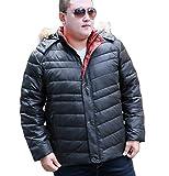 ZJEXJJ Limited La Veste d'hiver Homme Augmente la Graisse Fat Jacket Jacket Vêtements d'hiver rembourrés Les Jeunes (Couleur : Noir, Taille : XXXL)