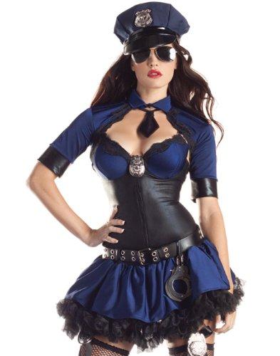 Plus Size Police Woman Costume (Body Shaper) - 2XL Fancy (Body Shaper Kostüm Size Plus)