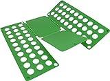 normani 1-10 Stück Wäschefalter für T-Shirt Hemden/Faltbrett / Falthilfe/Wäschefaltbrett - Haushaltshilfe - sehr stabil Farbe Grün Größe 1 Stück