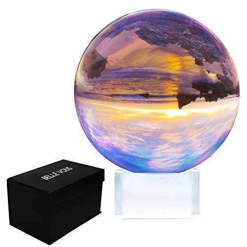 Fotografie Kugel mit Ständer und Box - K9 Klare Kristallkugel für Meditation und Heilung - Glaskugel für Dekoration - Fotokugel aus Glas - Lensball, Kristall Kugel ()