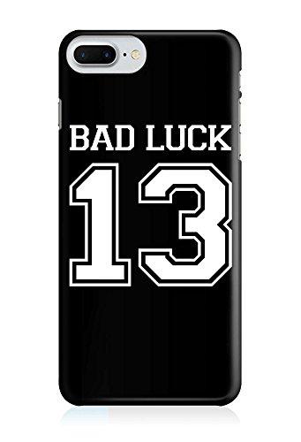 COVER Statement Spruch Quote Bad luck Nummer 13 schwarz weiss Design Handy Hülle Case 3D-Druck Top-Qualität kratzfest Apple iPhone 8 Plus