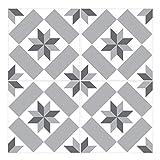 Wandkings Fliesenaufkleber 4er Set - Wähle ein Muster & Größe -Aileen - 30 x 30 cm - Farbe: Grau