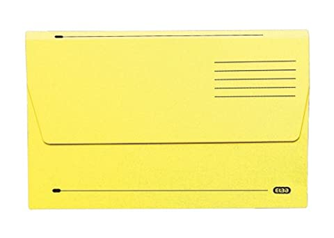 Elba 100090128 Document Wallet, Foolscap, 285 gsm - Pack of 50, Yellow