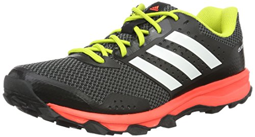 adidas Herren Duramo 7 Trail M Laufschuhe, Black (Negbas/Ftwbla/Rojsol), 44 EU
