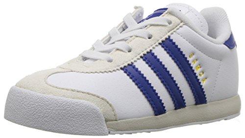 adidas Originals Boys' Samoa I Sneaker, White/Collegiate Royal/Talc, 10 Medium US Toddler (Adidas Sneaker Toddler)