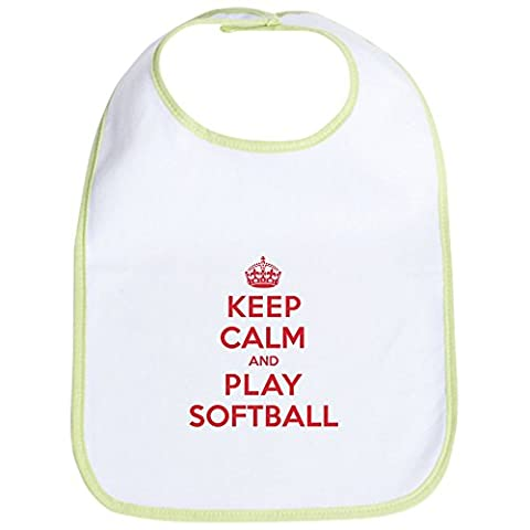 CafePress - Keep Calm Play Softball Bib - Cute Cloth