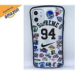 Funda Carcasa de Silicona iPhone 11 Basketball Equipos de Baloncesto Blanca Protección Total