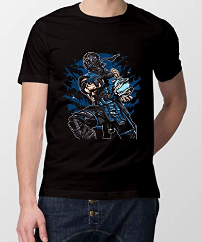 The Magnetic Store Men's Round Neck Cotton T-Shirt Sub-Zero Medium Black