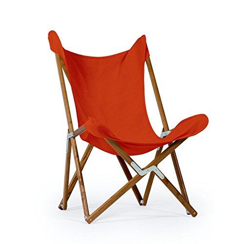 Sedia Tripolina Telami - Made in Italy - Icona del Design - Pieghevole - per Indoor e Outdoor (Ocra)