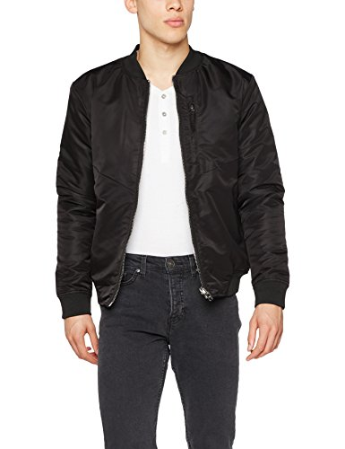 JACK & JONES Herren Jacke Jcoeight Bomber, Schwarz (Black Detail:One Fit-Camo Inside), Medium