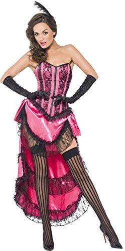 Sexy da donna Fever Boutique can can Diva costume completo travestimento rosa