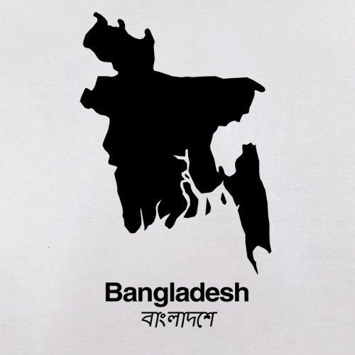 Bangladesh / Bangladesch Silhouette - Herren T-Shirt - 13 Farben Weiß