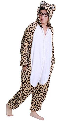 Honeystore Unisex Erwachsene Pyjamas Jaguar Bär Kostüm Pyjamas Jumpsuit Party Siamesische Kleidung S