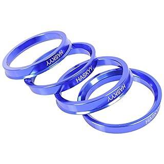 Alurad Shop Z-666571ALU Aluminium Zentrierringe 4 Blau