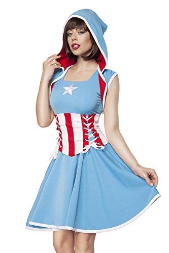 Mask Paradise Major America Kostüm Damenkostüm Superheld Karneval Fasching Sexy