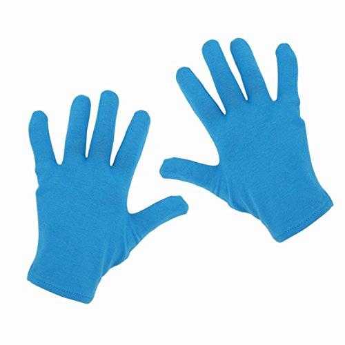 Zcoins 4 Paar feuchtigkeitsspendende Handschuhe feuchtigkeitsspendenden Zweck für trocken gerissenen Hand(4 Paar Handschuhe nur - Blau) (Gartenarbeit Hand Creme)