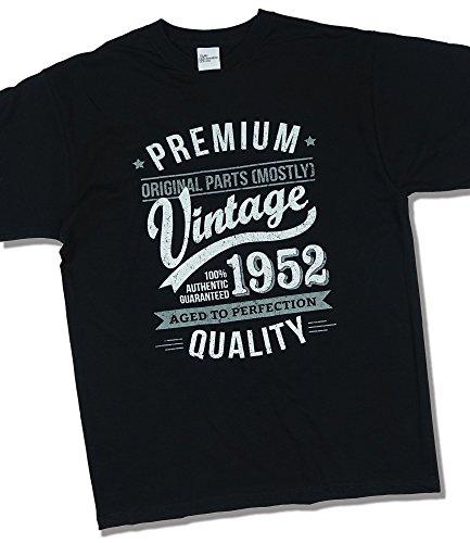 1952 Vintage Year - Aged To Perfection - 65. Geburtstag geschenk T-Shirt fr Herren Schwarz