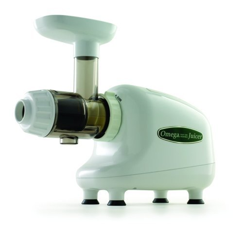 Omega J8003 Nutrition Center Single-Gear Commercial Masticating Juicer, White by Omega