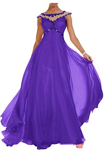 Royaldress Edel Orange Blau Pailletten Steine Abendkleider Partykleider Abiballkleider Lang chiffon Rock Violett