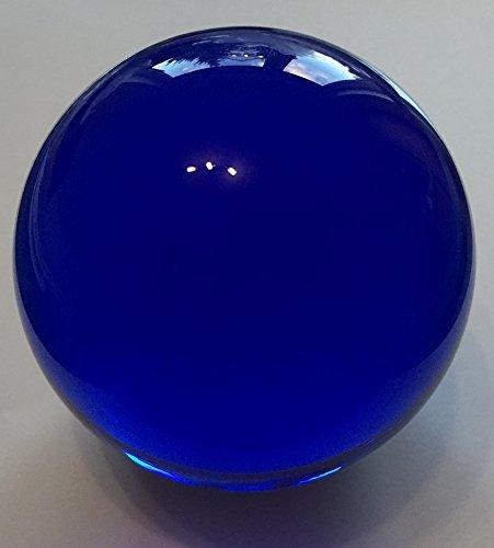 Blauer edler Briefbeschwerer Kugel Ø 100 mm mit Standfläche