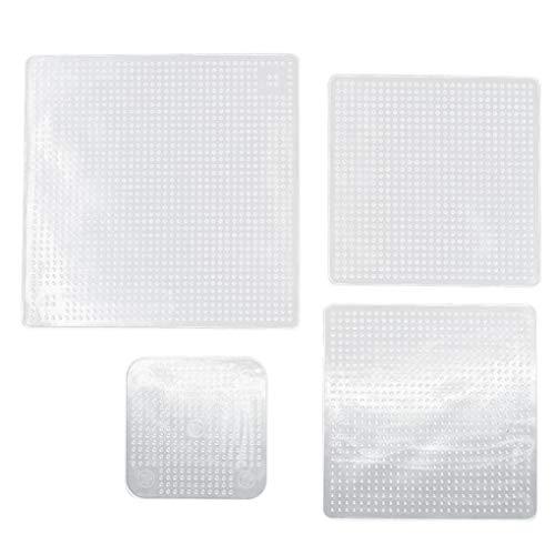 Kakiyi 1Pc / 4Pcs Wiederverwendbare Silikon-Schüssel-Teller-Verpackungs-Siegel Lebensmittel frisch zu halten Wrap Deckelbezug Vacuum Lebensmittel-Verpackungs-Küchenhelfer
