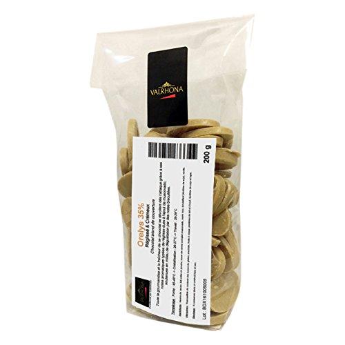 Valrhona - Orelys 35% chocolat blond au muscovado de couverture fèves 200 g