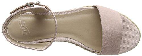 SPMLexus Sandal - Sandali con Tacco e Cinturino alla Caviglia Donna, Beige (Beige (Blush 007)), 38